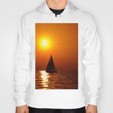 A Sailboat At Sunset Hoody