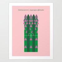 Vegetable: Asparagus Art Print