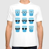 Glasses Mens Fitted Tee White SMALL
