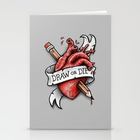 Draw Or Die Stationery Cards