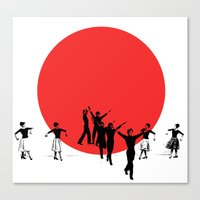 Dancing For Japan Canvas Print