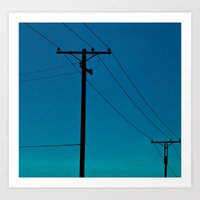 Telephone Lines Art Print