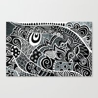 Tangled fishes Canvas Print
