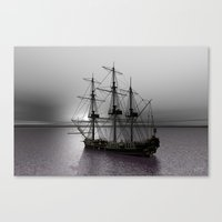 Sailing Along The Cold S… Canvas Print