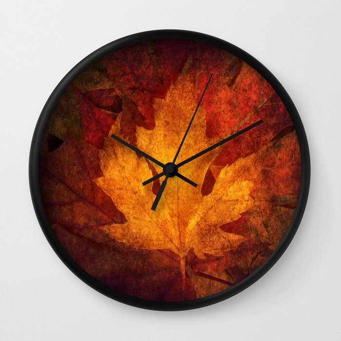 Wall Clock Art Design : Cycle modern seasonal art design photograph wall clock by