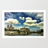 From The River Seine Art Print