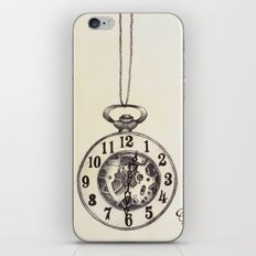 Ballpoint Pen, Half Hunter Pocket Watch iPhone & iPod Skin