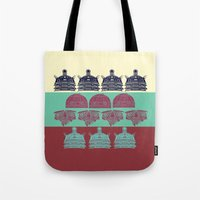 Robots don't like stairs (R2D2, Johnny 5 & The Dalek) Tote Bag