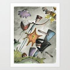 Super Mario Brothers Art Print