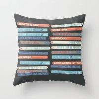 Music Snob Throw Pillow