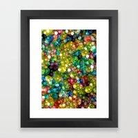 Sparkling Rainbow Bubbles Framed Art Print