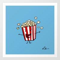 Buttered Popcorn Art Print