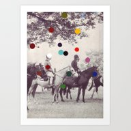Art Print featuring EQUESTRIAN by Beth Hoeckel Collage…
