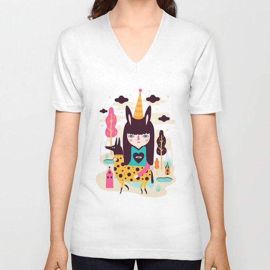 Tefewe V-neck T-shirt