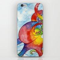 Rainbow Octopus iPhone & iPod Skin