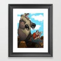 Man Vs Nature Framed Art Print
