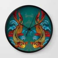 A Tale Of Two Fins. Wall Clock