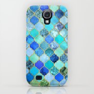 Cobalt Blue, Aqua & Gold… Galaxy S4 Slim Case