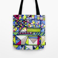 Neon Textures Tote Bag