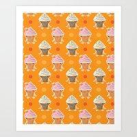 Ice Cream And Sun Bath Art Print