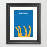 No230 My Animal House Mi… Framed Art Print