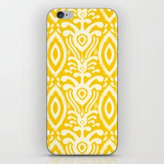 Yellow Ikat Pattern iPhone & iPod Skin