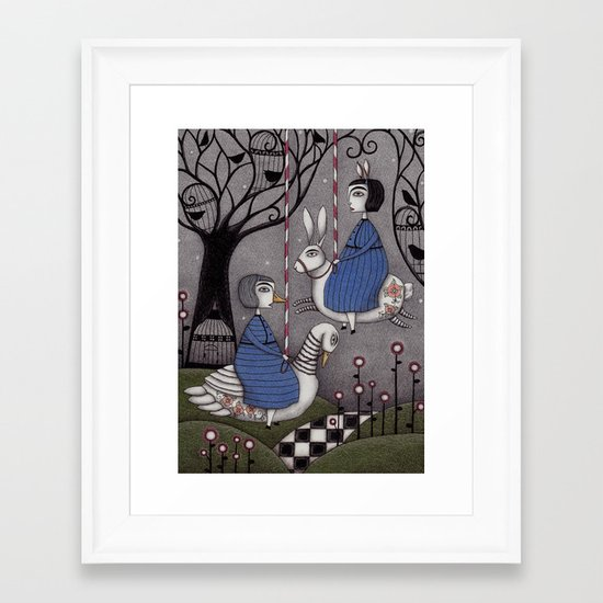 Merry-go-round  Framed Art Print