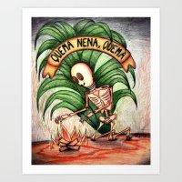 ¨burns baby burns¨ Art Print