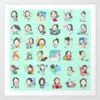 moonsia` Art Print
