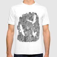 Ecotone (black & White) Mens Fitted Tee White SMALL