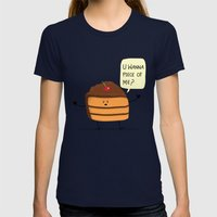 Trouble Caker! Womens Fitted Tee Navy SMALL