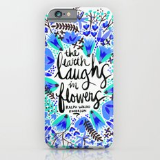 The Earth Laughs in Flowers – Turquoise & Blue iPhone 6 Slim Case