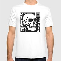 QR- Dead Mens Fitted Tee White SMALL