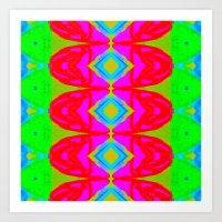 Summer Abstract Pattern I  Art Print