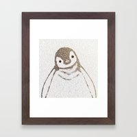 The Little Intellectual Penguin Framed Art Print