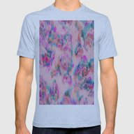 Ikat Glitch Mens Fitted Tee Athletic Blue SMALL