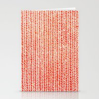 orange Stationery Cards featuring Stockinette Orange by Elisa Sandoval