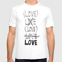 XLOVE Mens Fitted Tee White SMALL