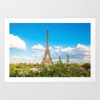 Cloud 9 - Eiffel Tower Art Print