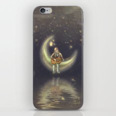 Story about boy who play guitar on moon iPhone & iPod Skin