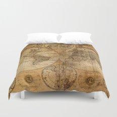 World Map 1746 Duvet Cover