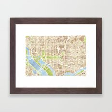 Washington DC Watercolor… Framed Art Print