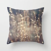 Sparkling Fairy Lights Throw Pillow