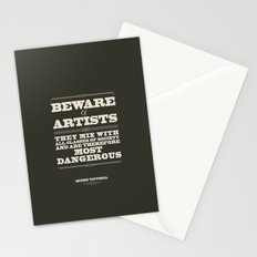 Beware of Artists Stationery Cards