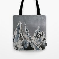Mountains - Winter Sky Tote Bag