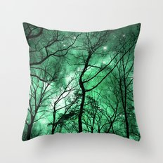 The Trees Reach Out at Night Throw Pillow