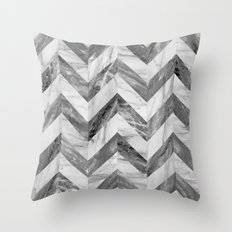 Marble chevron Throw Pillow