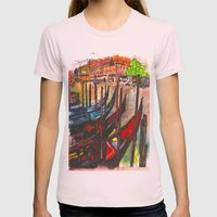 Paradisal Venice Womens Fitted Tee Light Pink SMALL