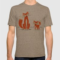 Two Fine Foxes Mens Fitted Tee Tri-Coffee SMALL