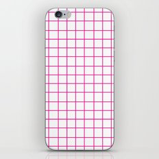 Grid (Magenta/White) iPhone & iPod Skin